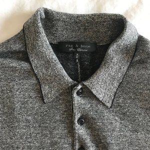 Men's Rag and Bone Dark Grey Polo (M)